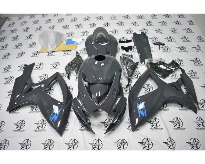 Dark Grey with Light Blue Decals - 2006 to 2007 GSXR 600/750
