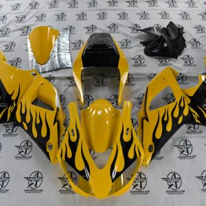 69172 Yellow with Black Flames - 1998 To 1999 R1 Front