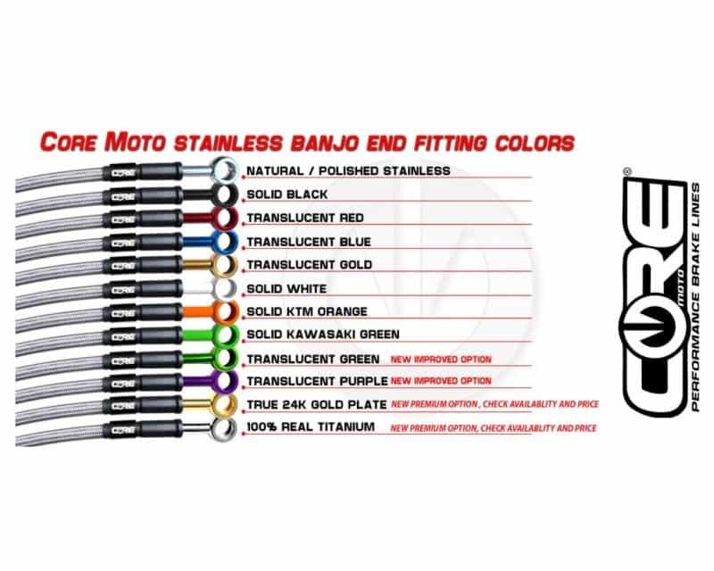 SUZUKI GSXR600 2006-2007 FRONT BRAKE CUSTOM BRAKE LINE KIT CORE MOTO